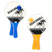 Beach Design Wooden Paddle Bat Set With Ball