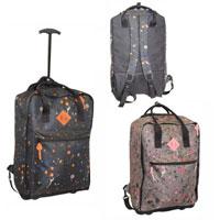 Splatter Print Cabin Bag Black