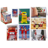Childrens Elf Christmas Cards And Envelopes 6 Pack