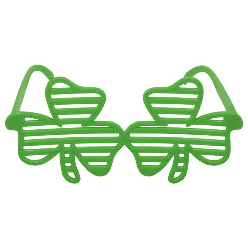 St Patrick's Day Adult Shamrock Shutter Glasses
