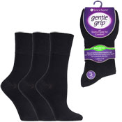 Ladies Bamboo HoneyComb Gentle Grip Socks Plain