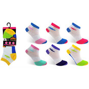 Ladies ProHike Cushioned Sole Trainer Socks Coloured Heal