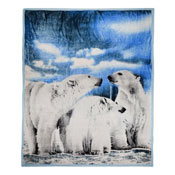 Faux Mink Animal Blanket Polar Bear