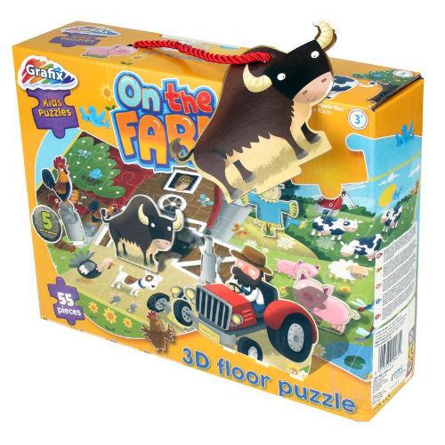 3D On the Farm Puzzle 55 Pieces