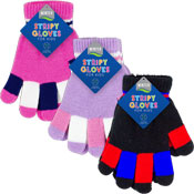 Childrens Striped Magic Gloves