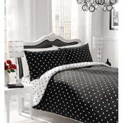 Polka Dot Bedding Duvet Set Black