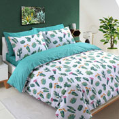 Tropical Cactus Brights Reversible Duvet Set