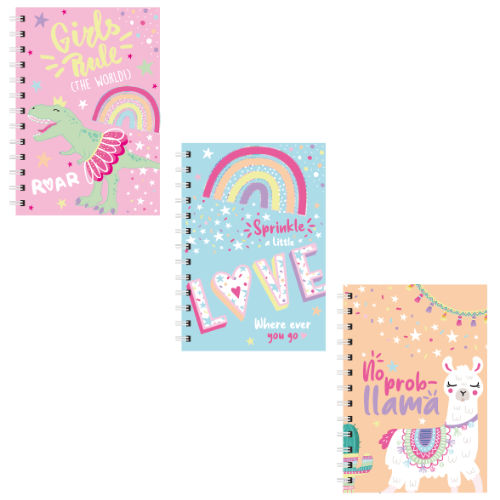 A5 Spiral Llama Love Note Book