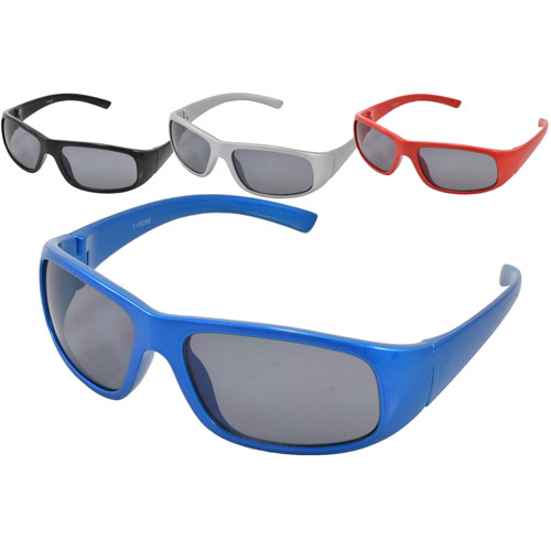 Kids Plastic Coloured Wrap Sunglasses