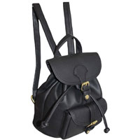 Handy Mini Backpack With Front Pocket Black
