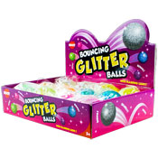 Bouncing Flashing Light Glitter Balls