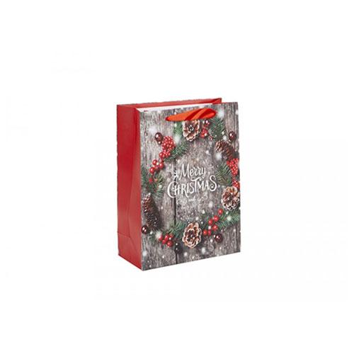 Merry Christmas Glitter Gift Bag Small