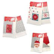 Christmas Corner Tea Towel 3 Pack