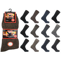 Mens Wool Blend Thermal Boot Socks Short Length