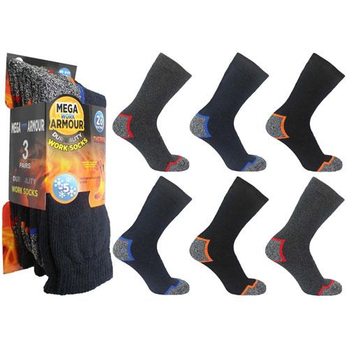 Mega Armour Mens Work Socks