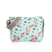 Blossom Design Cross Body Bag Turquoise