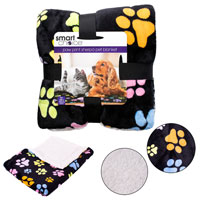 Pet Blanket Luxury Sherpa With Paw Prints