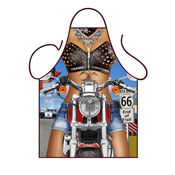 Novelty Apron Female Biker