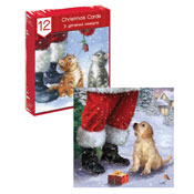 Traditional Christmas Cards Puppy & Kittens
