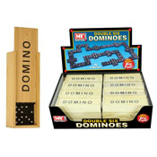 28 Wood Dominoes In Box