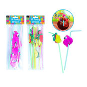 Fruit/Flamingo Funky Straws 15 Pack