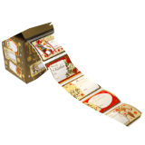 100 Pack Christmas Gift Labels Traditional
