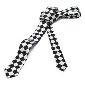 Black & White Diamond Tie