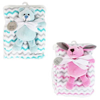 Hugs And Kisses Baby Comfort Blanket With Toy