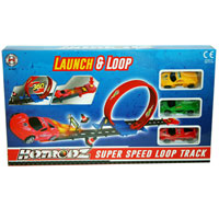 Looping Race Track With 3 Cars
