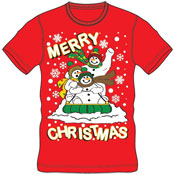 Christmas T-Shirt Red Merry Christmas Sleigh