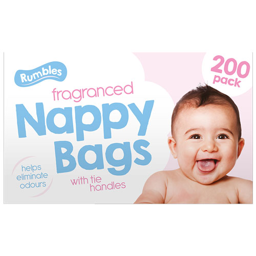 Baby Fragranced Nappy Bags 200 Pack