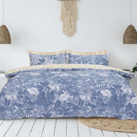 Home Collection Blue Leaves Duvet Set