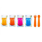 Baby Spoon & Fork Set 6 Pack