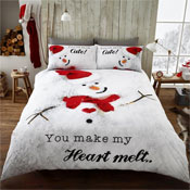 Snowman Heart Melt Christmas Duvet Set