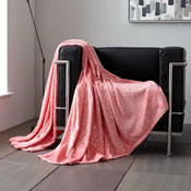 Metallic Stars Faux Mink Throw Pink