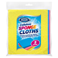 Cellulose Sponge Cloths 5 Pack
