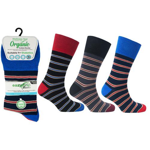 Mens Wellness Organic Cotton Socks Oxford