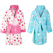 Girls Heart Print Dressing Gowns