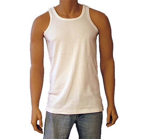 Single Jersey White Cotton Vests