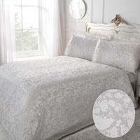 Lurex Jacquard Marble Silver Duvet Set