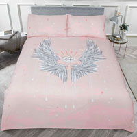 Angel Wing Panel Duvet Set Blush