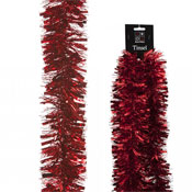 Christmas Decorative Red Thick & Thin Tinsel