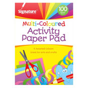 Multi Coloured Activity Paper Pad