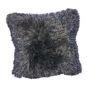 Lyon Silver Furry & Sparkle Cushion Cover