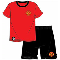 Official Mens Manchester United Shortie Pyjamas