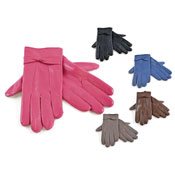 Ladies Leather Gloves with Bow