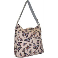 Butterfly Large Canvas Crossbody Bag