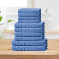 Bear & Panda 10 Piece Cotton Towel Bale Royal Blue