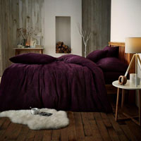 Super Soft Teddy Feel Duvet Set Purple