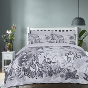 Botanical Tropics Grey Reversible Duvet Set